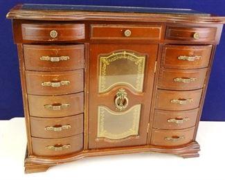 Dark Wooden Large JeweleryVanity Storage Chest