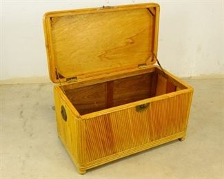 Faux Bamboo Hope Chest