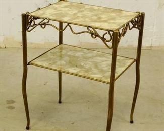 GoldTone Side Table
