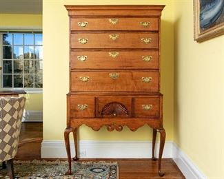 Two-Part American Maple Highboy