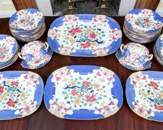 Partial Set Of Antique English Table Wares, Platters, Plates & 2 Tureens