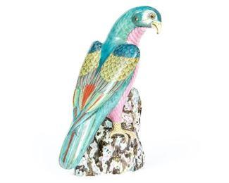 Raynaud Dt Cie Limoges Large Porcelain Parrot