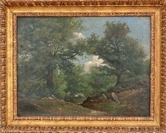 Signed Oil On Canvas Landscape