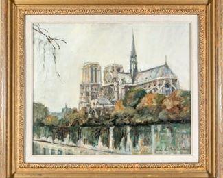 Jacques Favre De Thierrens (1895-1973) Notre Dame Cathedral