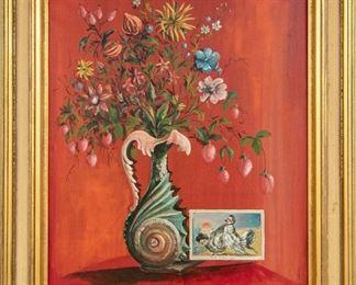 Ardovino Oil On Canvas Floral Still Life