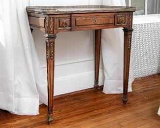 Beautiful Side Table With Bronze Mounts