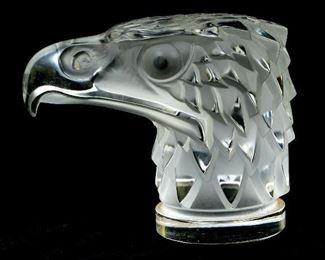 Lalique France Frosted Tete D'Aigle Car Mascot