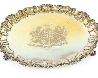 English Later Georgian Sterling Silver Salver, London, 1816-17