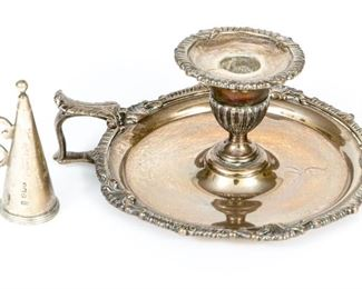 English Late Georgian Sterling Silver Night Stick, London, 1805-1806, By William Sumner