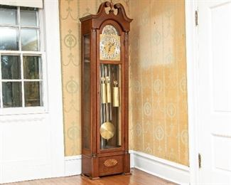 """Herschedes Model 217 Five Tube Hall Clock """"The Whittier"""""""
