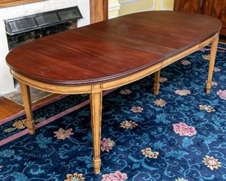 Vintage Oval, Nice Quality Mahogany Dining Table - Shown With Leaf