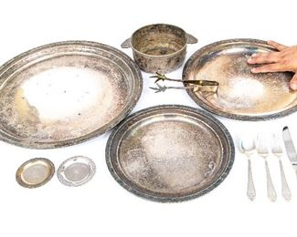 A Group Lot Of The Waldolf Astoria Hotel Silver Plate