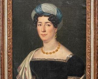 Jean Bonvoisin (Paris 1752-1837) Oil On Canvas Portrait Of A Fine Lady
