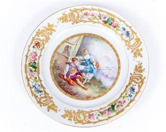 Antique Sevres Porcelain Plate