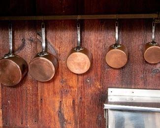 5 Pieces French Etablissements Allez Freres Paris Cookware - LOT# 1