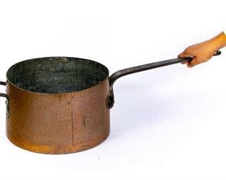 Smith & Anthony Heavy Large Antique Copper Pot