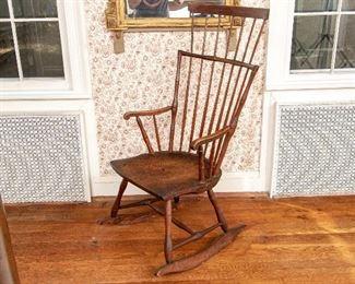 Antique Comb Back Windsor Rocking Chair