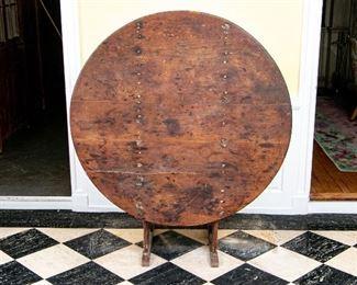 Primitive American Pine Hutch Table
