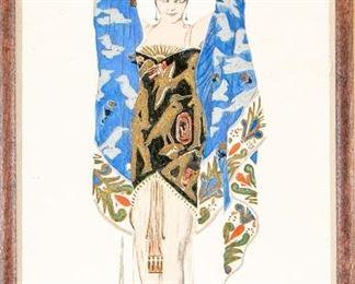 Halle, Illustration Artwork, Costume Study