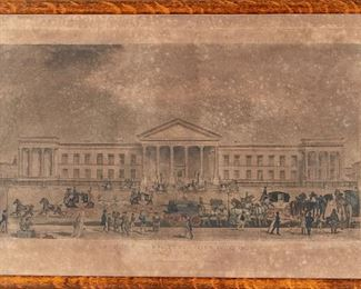 """English Engraving """"The New General Post Office London"""" 1849"""