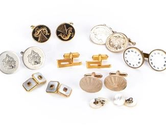Great Vintage Collection Of Cufflinks