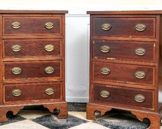 Pair Of 4 Drawer Side Tables - Paint Project