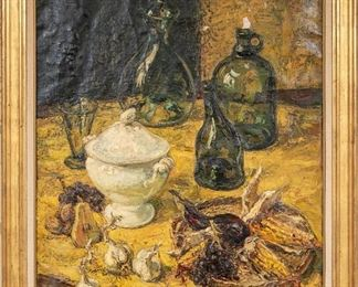 Jean Rigaud (French, 1912 – 1999) Oil On Canvas Still Life - Tagged # 117640)