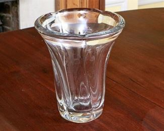 A Very Heavy 10 LB. Duam Nancy Art Glass Vase