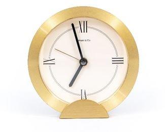 Tiffany & Co. Brass Quartz Clock