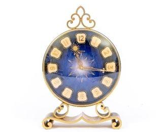 Vintage Benrus Wind Up Brass Mantle Clock