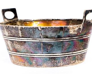 British Sterling Silver Diminutive Bucket, Possibly Glasgow, 1832-33