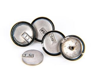Platinum & Diamonds Cuff Links - 1 As Is