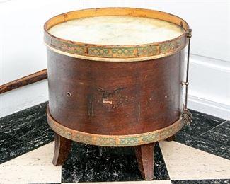 Vintage Drum Form Side Table
