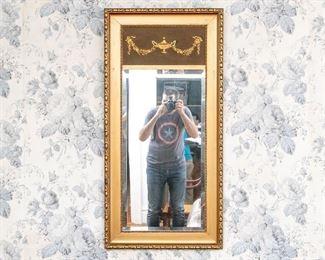 Antique Trumeau Gilt Wall Mirror