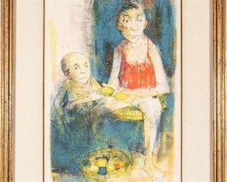 Jean Jansem, French (1920 - 2013) épreuve D'Artiste Titled Lemon Seller