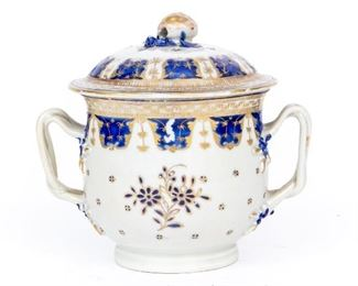 Chinese Export Lidded Bowl