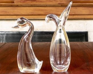 Two Steuben Glass Table Top Objects