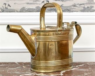 Henry Fearncombe Antique English Brass Watering Can