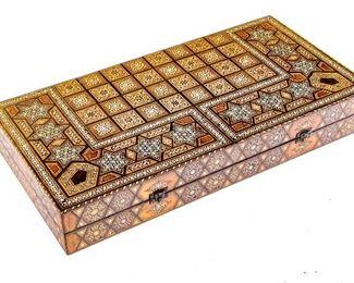 Inlaid Backgammon Board Game