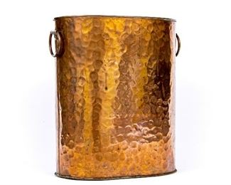 Vintage Di Martino Handcraft Hammered Copper Wastepaper Pail