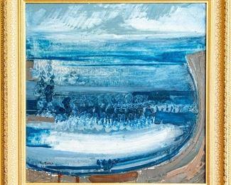 Emile Marze (French, 1930-2009) Impressionist Seascape