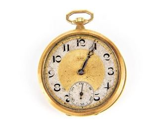 18K Gold Pocket Watch Case For Scrap