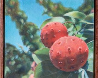 Niamh Butler (American, 20th-21st Century) Egg Tempera Academy Berries