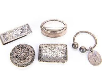 Sterling And 800 Silver Objects Of Interest