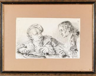 Austrian Drawing 1815, Titled Rich & Poor