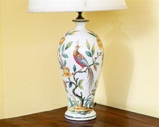 Vintage Italian Ceramic Table Lamp - No Shade