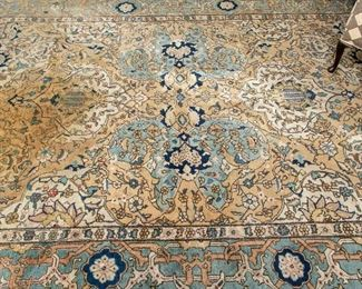 """Antique Hand Woven Wool Carpet - 97"""" X 131"""" Or Approximately 8'x 11'"""