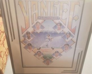Signed Joe DiMaggio Framed