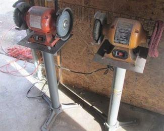 Bench Grinders on Floor Stands
