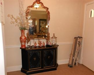 Oriental chest and beautiful mirror